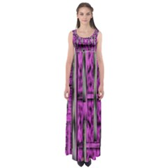 Purple Lace Landscape Abstract Shimmering Lovely In The Dark Empire Waist Maxi Dress