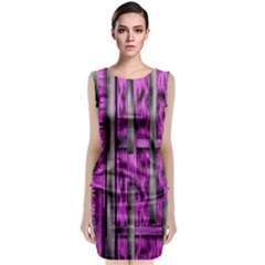 Purple Lace Landscape Abstract Shimmering Lovely In The Dark Classic Sleeveless Midi Dress