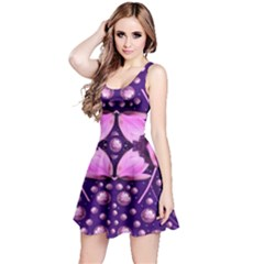 Magic Lotus In A Landscape Temple Of Love And Sun Reversible Sleeveless Dress