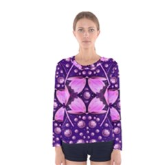 Magic Lotus In A Landscape Temple Of Love And Sun Women s Long Sleeve Tee