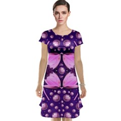 Magic Lotus In A Landscape Temple Of Love And Sun Cap Sleeve Nightdress