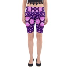 Magic Lotus In A Landscape Temple Of Love And Sun Yoga Cropped Leggings