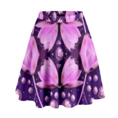 Magic Lotus In A Landscape Temple Of Love And Sun High Waist Skirt