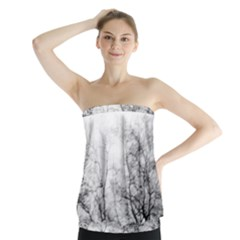 Tree Tops Strapless Top