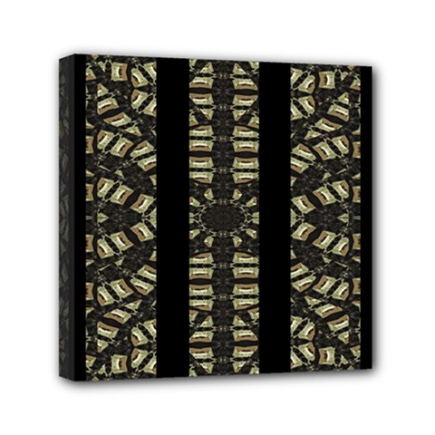 Vertical Stripes Tribal Print Mini Canvas 6  x 6