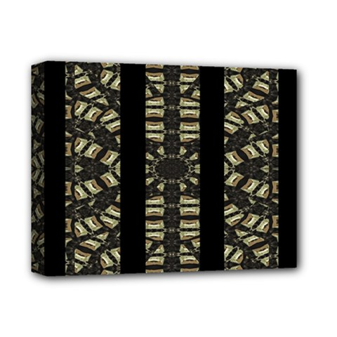 Vertical Stripes Tribal Print Deluxe Canvas 14  x 11