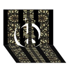 Vertical Stripes Tribal Print Peace Sign 3D Greeting Card (7x5)