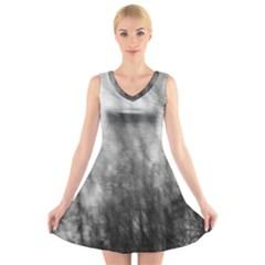 Obscure V Neck Sleeveless Skater Dress