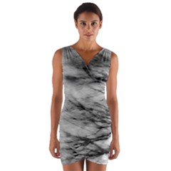 Forest Fade Wrap Front Bodycon Dress