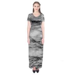 Forest Fade Short Sleeve Maxi Dress