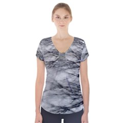 Forest Fade Short Sleeve Front Detail Top