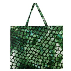 Dragon Scales Zipper Large Tote Bag