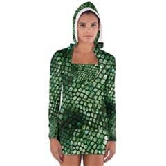 Dragon Scales Women s Long Sleeve Hooded T-shirt