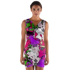 Ink Shapes          Wrap Front Bodycon Dress