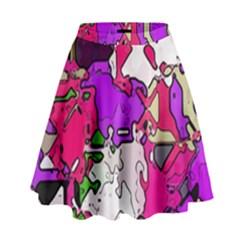 Ink shapes                                                                           High Waist Skirt