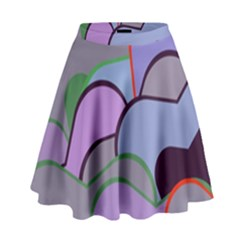 Wavy shapes pieces                                                                            High Waist Skirt