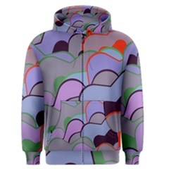 Wavy shapes pieces                                                                          Men s Zipper Hoodie