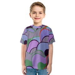 Wavy shapes pieces                                                                          Kid s Sport Mesh Tee