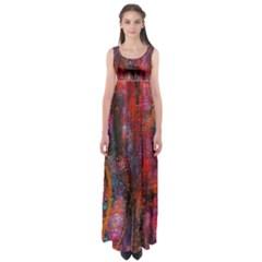 Fairy Tree Bark Empire Waist Maxi Dress