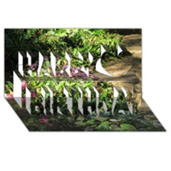 Shadowed ground cover Happy Birthday 3D Greeting Card (8x4)