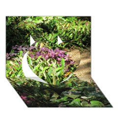 Shadowed ground cover Heart 3D Greeting Card (7x5)