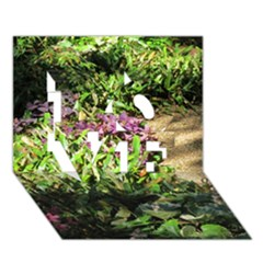 Shadowed ground cover LOVE 3D Greeting Card (7x5)