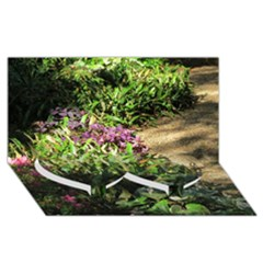 Shadowed ground cover Twin Heart Bottom 3D Greeting Card (8x4)