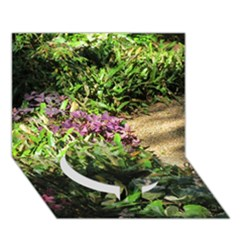 Shadowed ground cover Circle Bottom 3D Greeting Card (7x5)