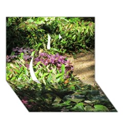 Shadowed ground cover Apple 3D Greeting Card (7x5)