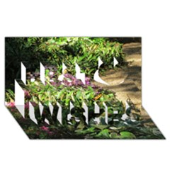 Shadowed ground cover Best Wish 3D Greeting Card (8x4)