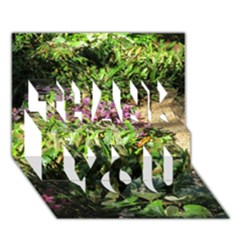 Shadowed ground cover THANK YOU 3D Greeting Card (7x5)