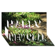 Shadowed ground cover Happy New Year 3D Greeting Card (8x4)