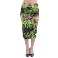 Shadowed ground cover Midi Pencil Skirt