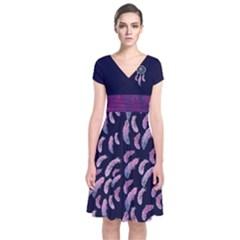 Dream Catcher Short Sleeve Wrap Dress