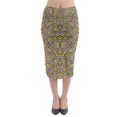 Bee Hive Midi Pencil Skirt