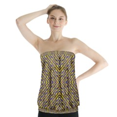 Bee Hive Strapless Top