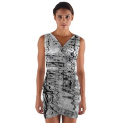 Ripples Wrap Front Bodycon Dress