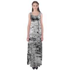 Ripples Empire Waist Maxi Dress