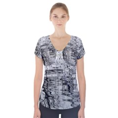 Ripples Short Sleeve Front Detail Top