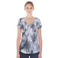 Impressions Short Sleeve Front Detail Top