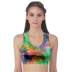 Reality Is Melting Sports Bra