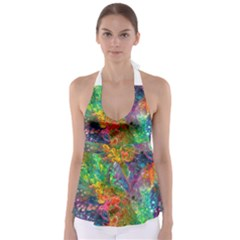 Reality is Melting Babydoll Tankini Top