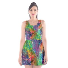 Reality Is Melting Scoop Neck Skater Dress