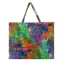 Reality is Melting Zipper Large Tote Bag