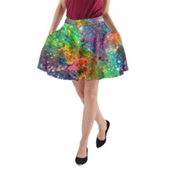 Reality Is Melting A Line Pocket Skirt