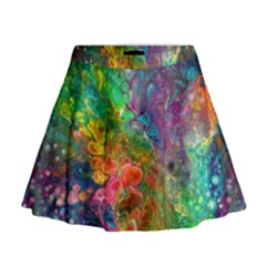 Reality is Melting Mini Flare Skirt