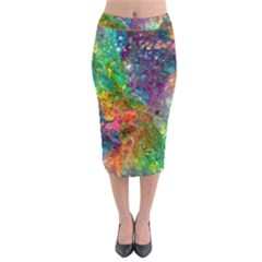 Reality is Melting Midi Pencil Skirt