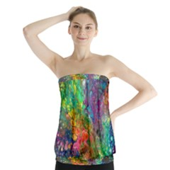Reality Is Melting Strapless Top