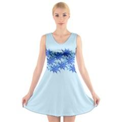 Elegant2 V-Neck Sleeveless Skater Dress