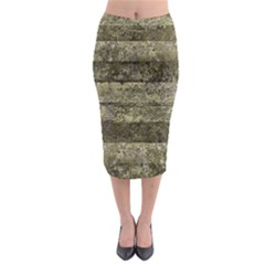 Grunge Stripes Print Midi Pencil Skirt